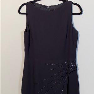 Liz Claiborne Black Floor length embellished gown